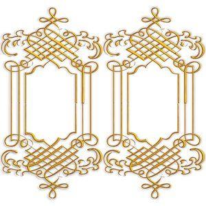 ornate gold frame Golden Ornate Border 9 Twin golden ornate