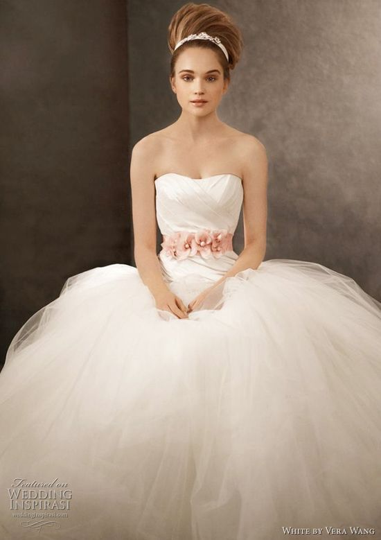 White by Vera Wang Spring | http://amazingweddingdressphotos.13faqs.com
