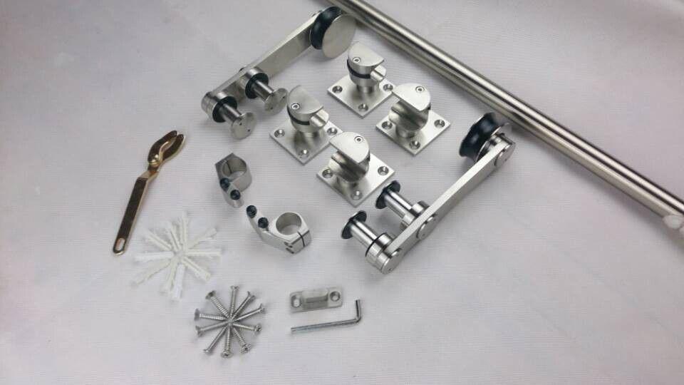 Acero inoxidable Eruopean estilo puerta corredera granero deslizante hardware en Puertas de Mejoras para el Hogar en AliExpress.com | Alibaba Group