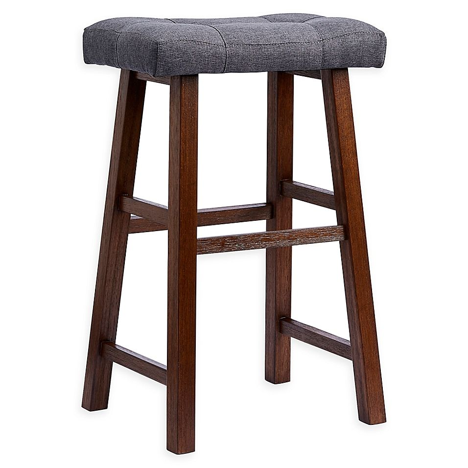Padded 29 Saddle Bar Stool In Grey Dark Brown Dark Grey Dark Brown Saddle Bar Stools Bar Stools Cheap Furniture Stores