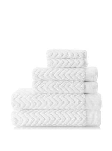 "www.myhabit.com  Plush zigzag rib with a vertical rib border crafted from fine combed cotton; set includes (2) 28"" x 52"" bath towels, (2) 19"" x 28"" hand towels and (2) 13"" x 13"" washcloths"
