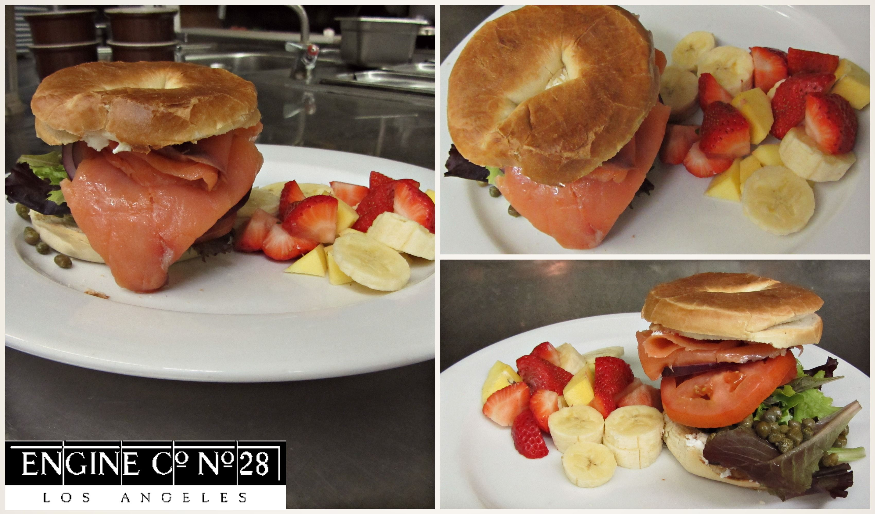 Delicious lox and bagel on our brunch menu Engine Co. No