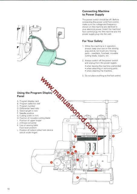 Elna 40 OverLock Sewing Machine Instruction Manual Sewing Machine Best Sewing Machine Tension Adjustment