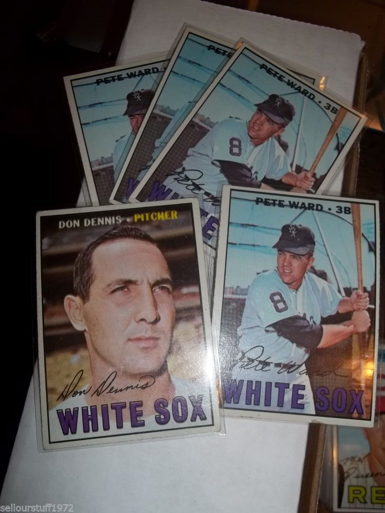 1967 Topps LOT of 5 Chicago White Sox #259 - #436 x 4