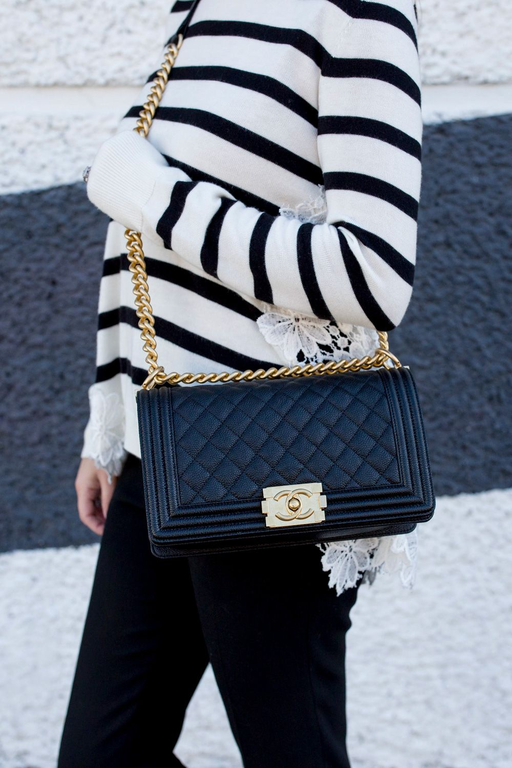 lace back sweater chanel boy bags and lace