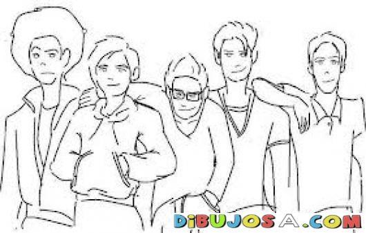 5 Carnales Dibujo De Un Grupo De Amigos Para Colorear A Cinco ...