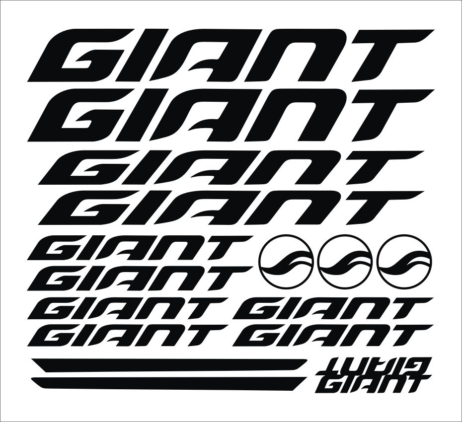 Giant bikes car stickers mtb silhouettes cut outs bicycles bumper
