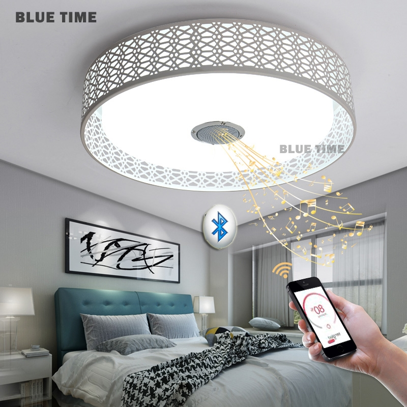 82.87$  Watch now - http://alicug.worldwells.pw/go.php?t=32776400198 - Intelligence color changeing Chandeliers Modern LED Chandeliers For Living Room lustres de sala de cristal Wedding decoration