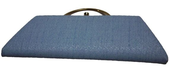 Vintage 60s Blue Woven Clutch by ILA of CALIFORNIA