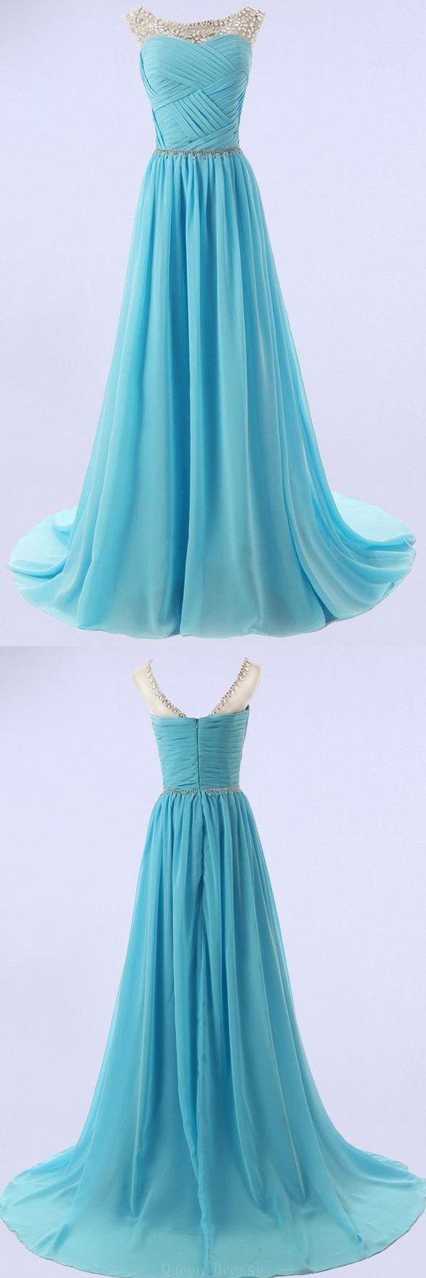 Luxurious prom dresses aline elegant aline scoop bridesmaidprom