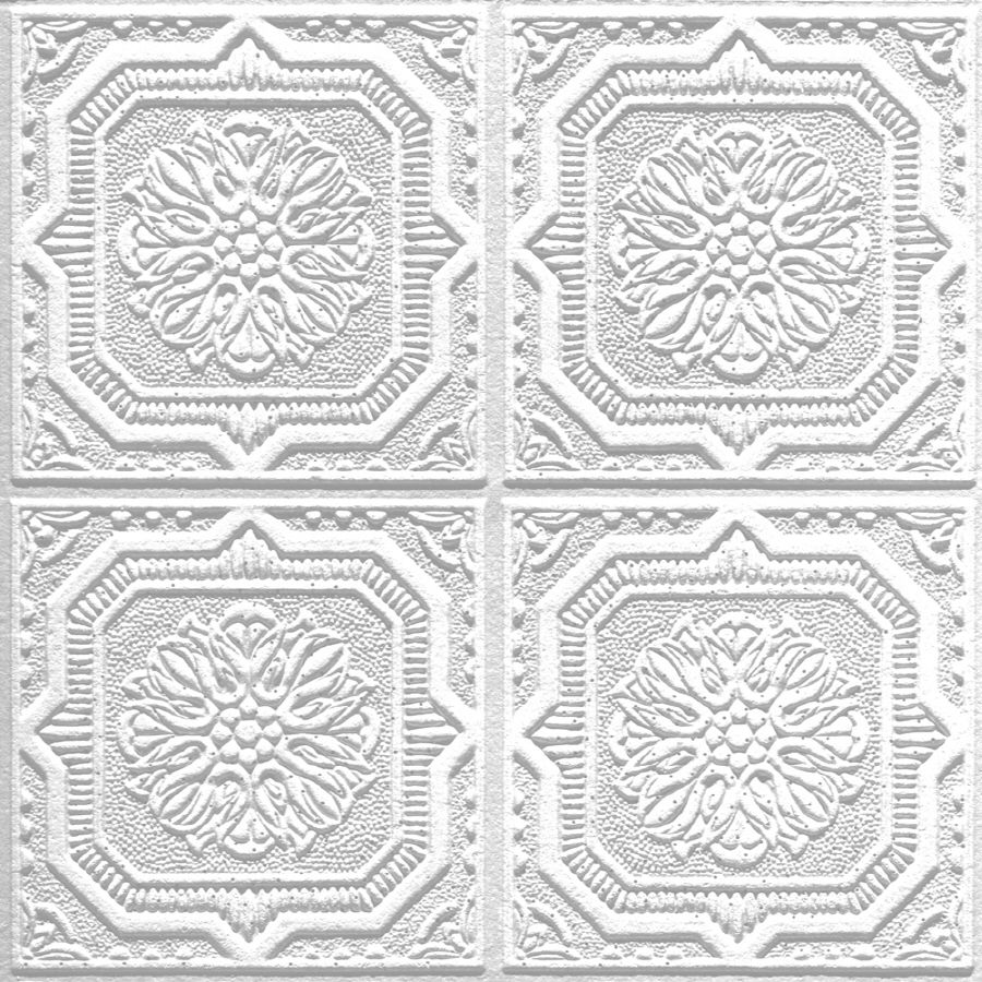 Shop Armstrong Ceilings Tin Look Wellington Homestyle 40 Pack White Patterned Surface Mount Acoustic Ceiling Acoustic Ceiling Tiles Faux Tin Armstrong Ceiling