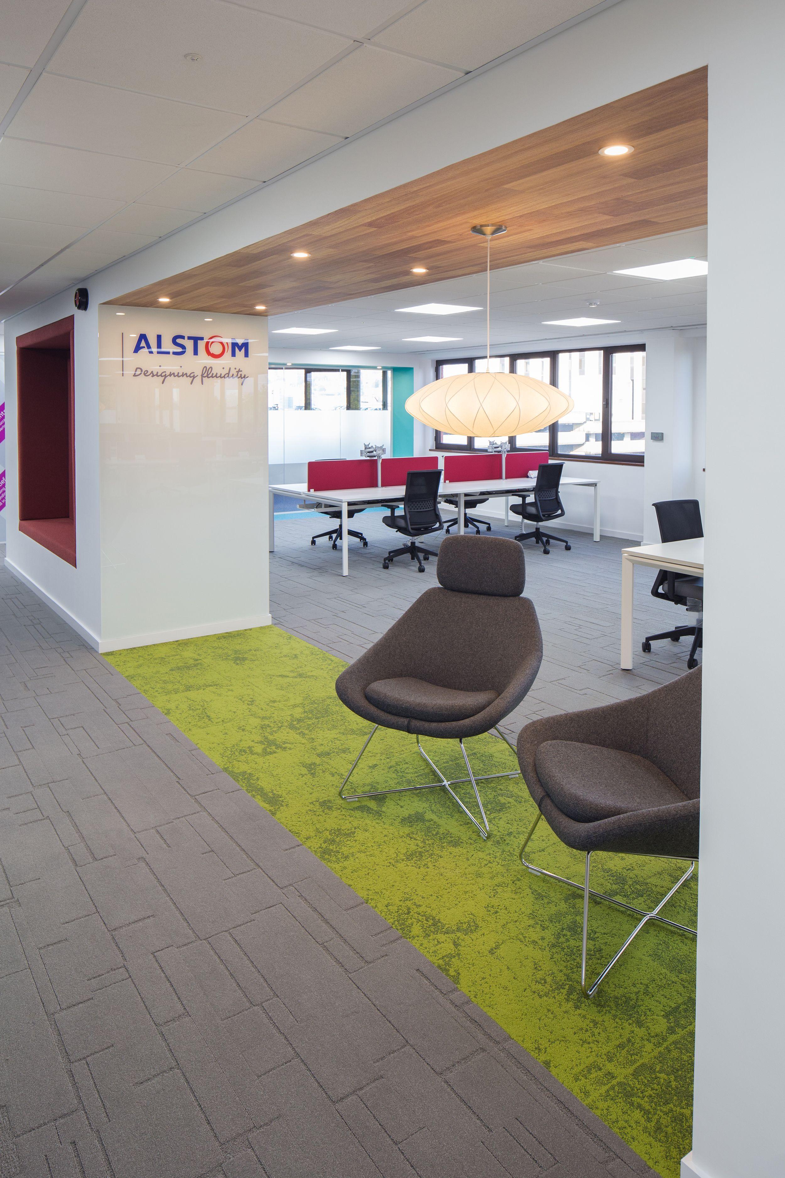 Alstom office interior design by amarelle