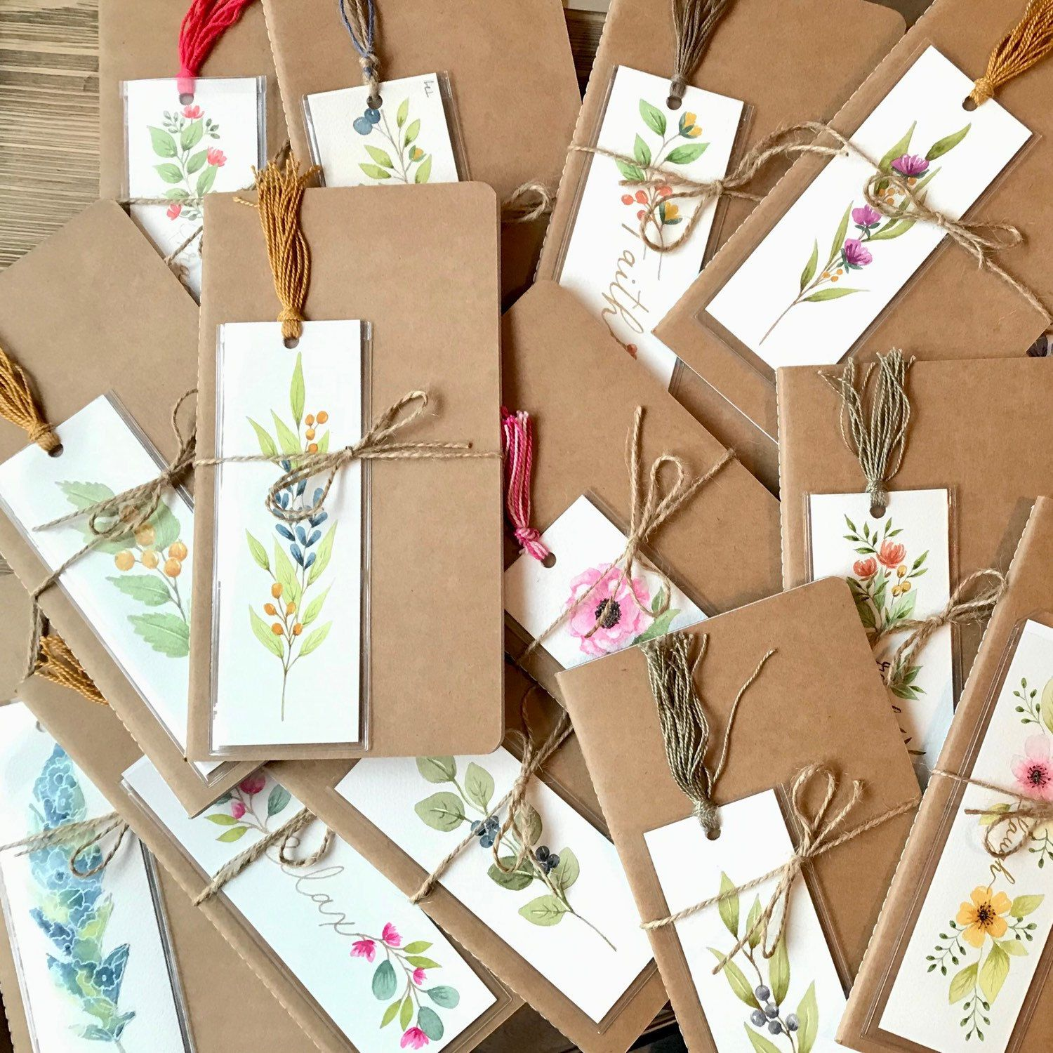 Unique Hand Painted Watercolor Bookmark Literary Gifts Etsy Bookmarks Handmade Creative Bookmarks Cute Teacher Gifts