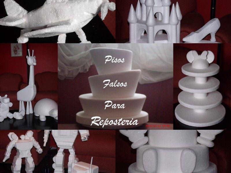 Pisos para tortas soportes para cupcakes adornos 3d en for Decoracion de pisos