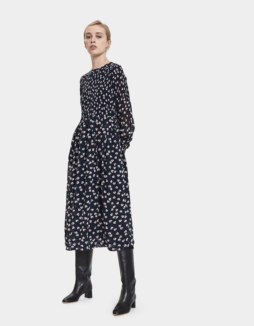 6956234c Rometty Georgette Smocked Dress | dress inspiration | Dresses, Smock ...