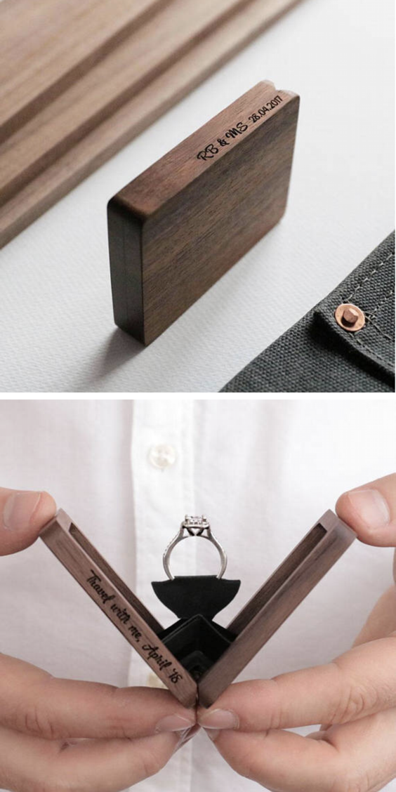 Thin Engagement Ring Box Perfect For The Big Proposal Wedding