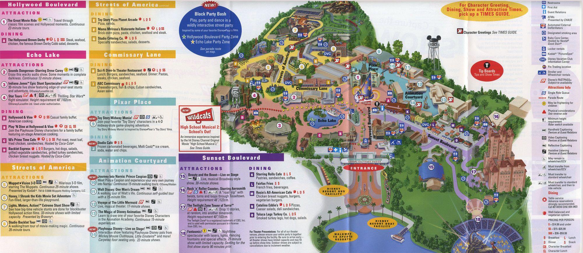 Disney World Park And Resort Maps Disney 39 S Hollywood Studios Map
