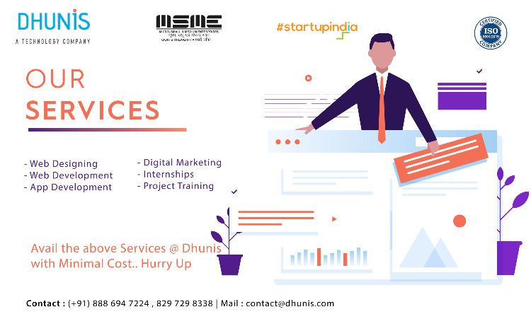 Get The Best Web Technologies Services From Dhunis At Minimal Cost We Had The Best Team To Make Any Design Look Web Marketing Digital Marketing Web Technology