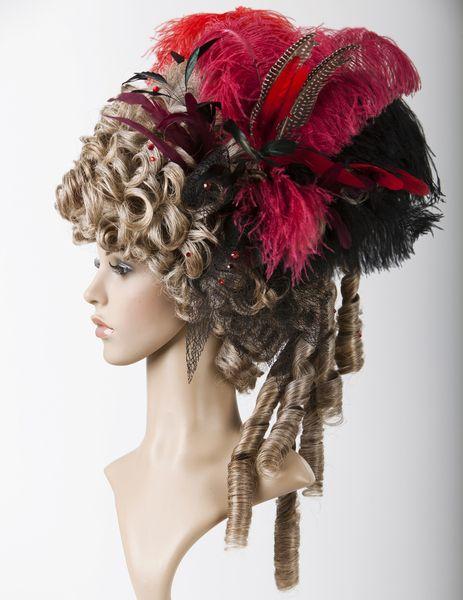 Haarschmuck & Kopfputz - Historische Perücke mit Federschmuck - Barock - ein Designerstück von Maskenzauber bei DaWanda
