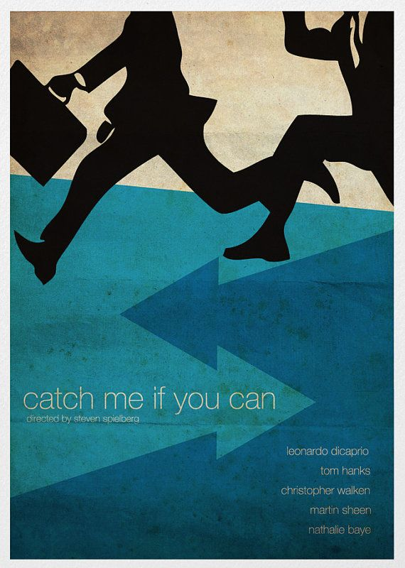 Catch Me if You Can Movie Poster #filmposterdesign