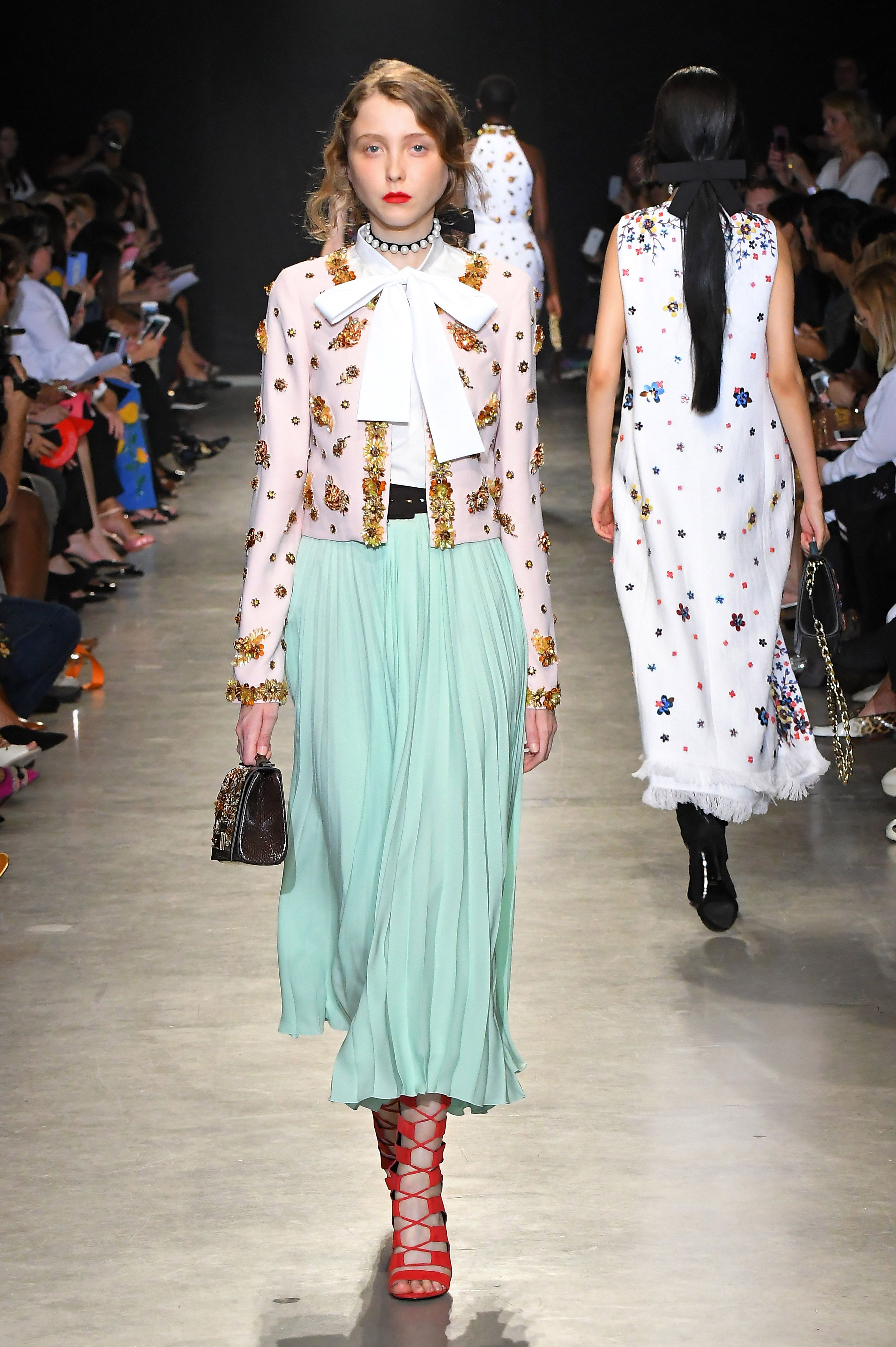 Fashion runway trend front crisscross 2019