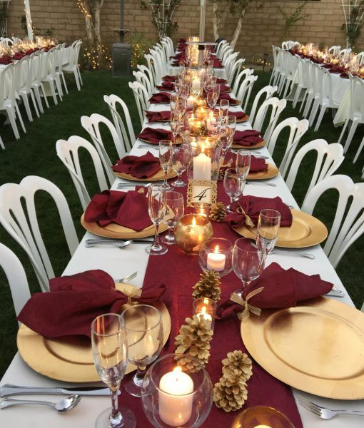 Gold Wedding Decor Ideas: 22 Romantic Burgundy And Rose Gold Fall Wedding Ideas