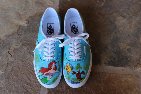 a7cd7303ec83 Hand Painted Shoes - The Little Mermaid in 2019