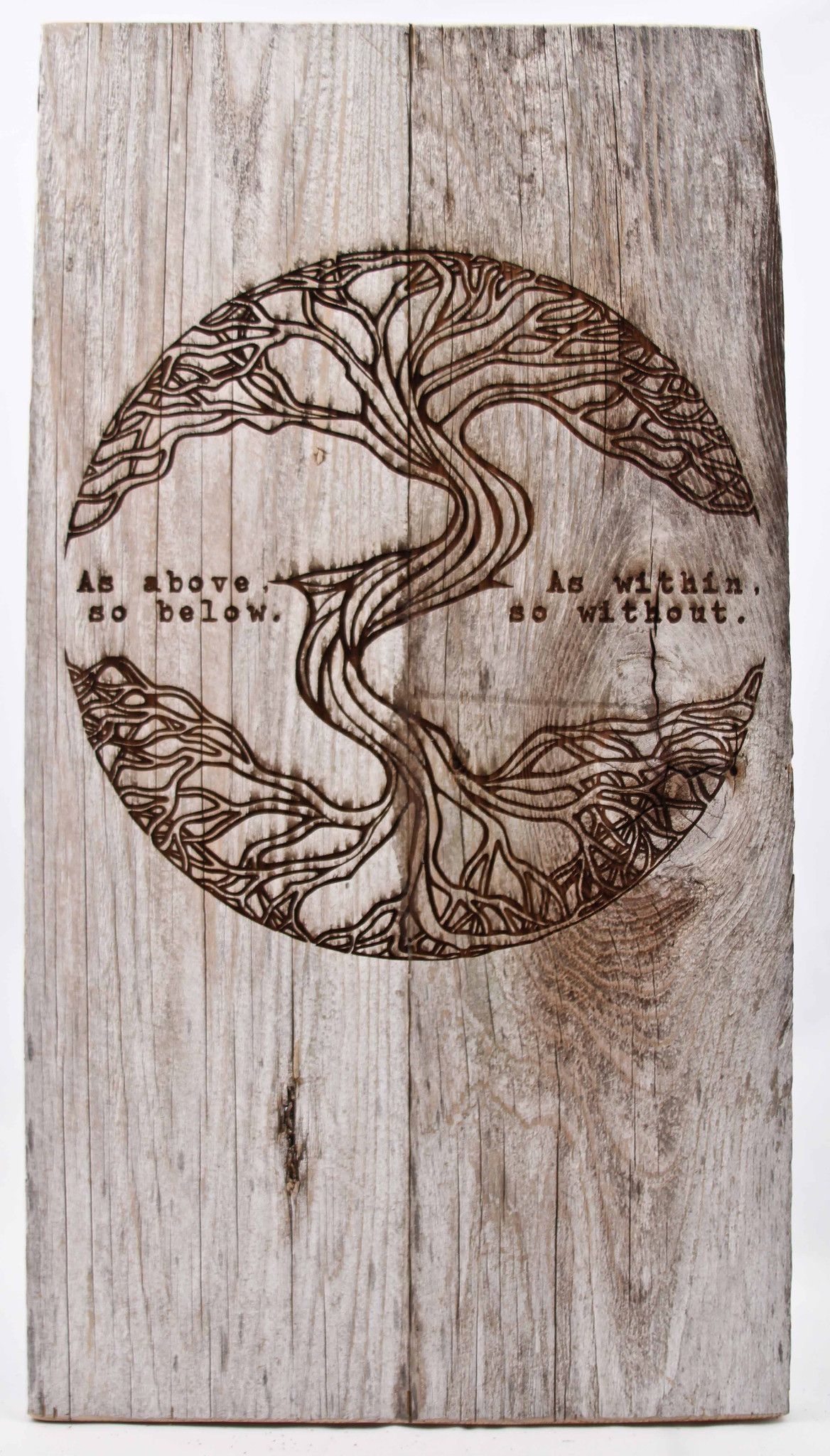 As Above, So Below Rustic Sign   Tree of life tattoo, Life tattoos ...