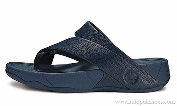 c2781c85c6ae52 Mens Fitflop Sling Diving Blue Leather Sandals