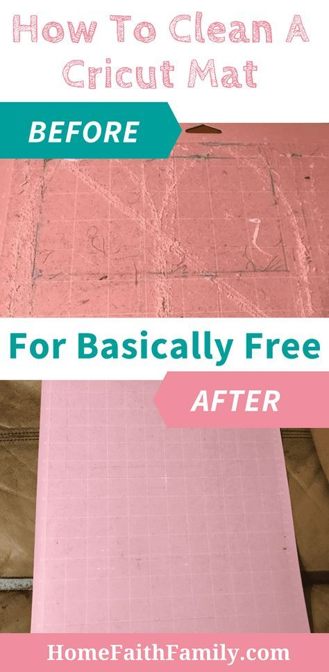 Cricut projects are the best, but no one ever talks about how to clean a Cricut mat. I'm going to show you how you can clean your Cricut mat basically for free. Continue reading this easy tutorial. #cricut #cricutmade #cricutDIY #cricutmaker via @homefaithfamily