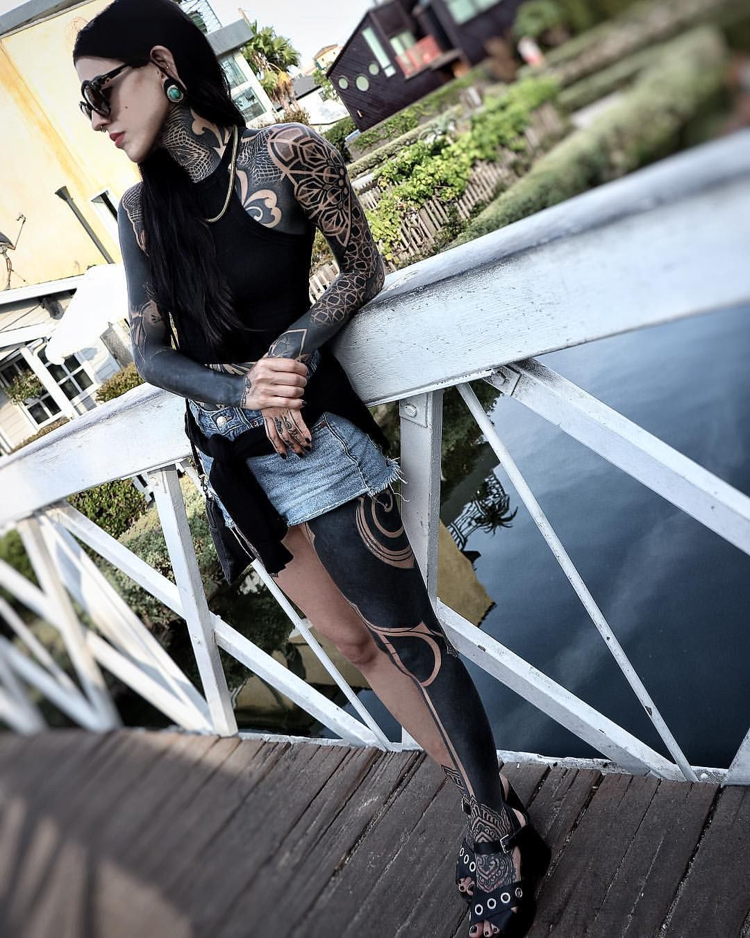 Solid Black Tattoos For Women Floral Tattoo Sleeve Black Sleeve Tattoo Sleeve Tattoos For Women