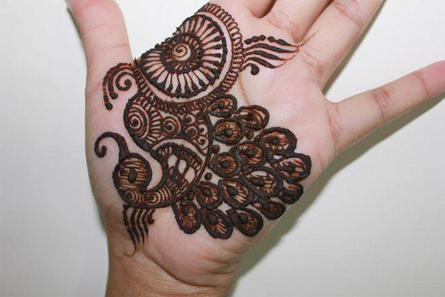 Easy Mehndi Designs For Girls Front Hand
