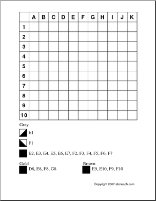 Mystery Grid Coloring Pages alfabetizao matemtica Pinterest