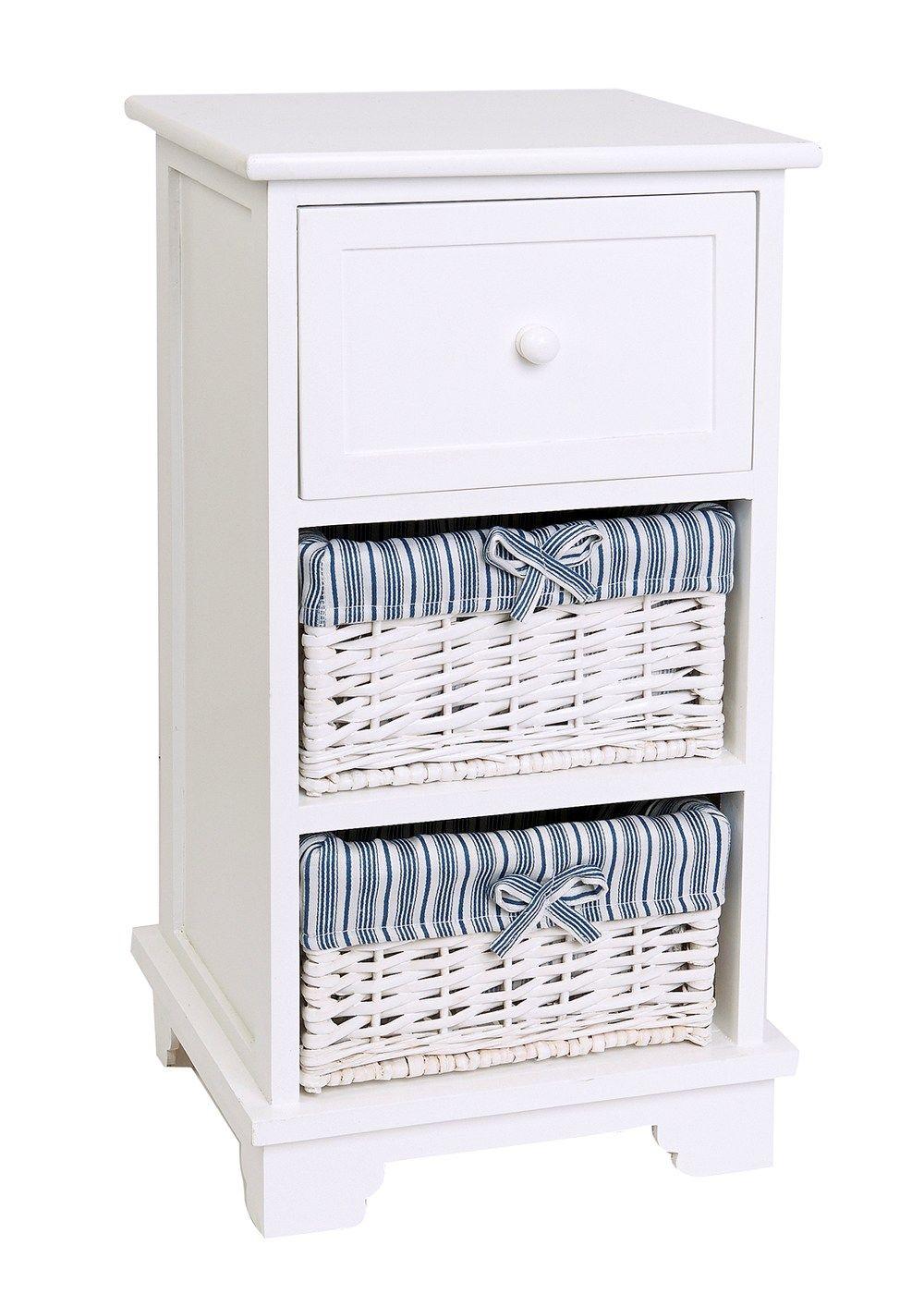 Wooden Cabinet Unit With Baskets (34cm x 30cm x 65.5cm) - Matalan  sc 1 st  Pinterest & Wooden Cabinet Unit With Baskets (34cm x 30cm x 65.5cm) - Matalan ...