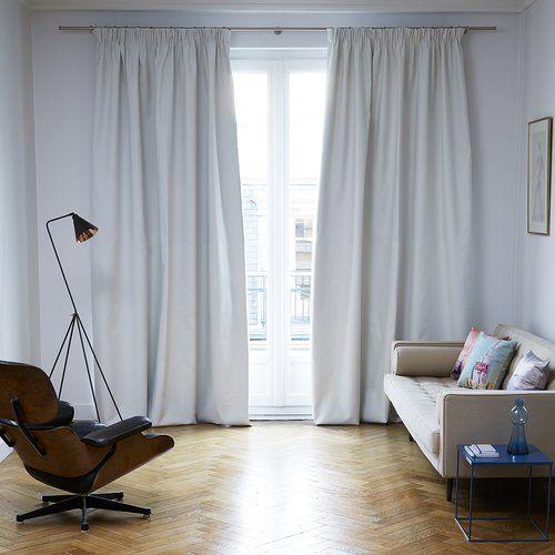Occultant Pencil Pleat Blackout Thermal Single Curtain Madura Vorhänge Verdunklungsvorhang Gestreiftes Zimmer
