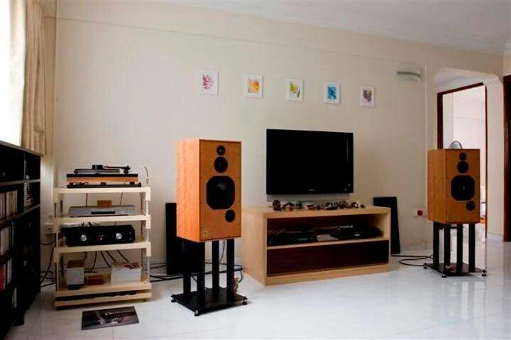 Hifi Setup Simple Clean Audio Room Audiophile Listening Room Living Room Setup #stereo #system #for #living #room