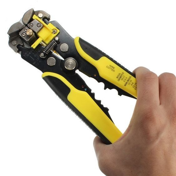 Multifunctional Automatic Wire Stripper Crimping Pliers Terminal Tool Yellow $26 Can