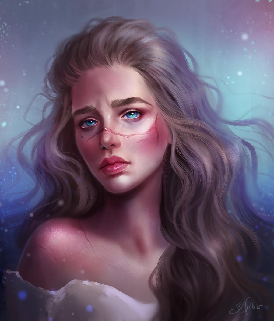 Pin By Ayum Mitsu On Penyihir Digital Portrait Art Digital Art Girl Realistic Art