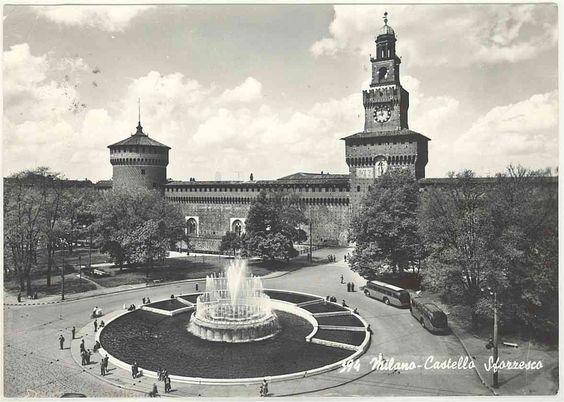 MILANO - Castello Sforzesco - Anni '60