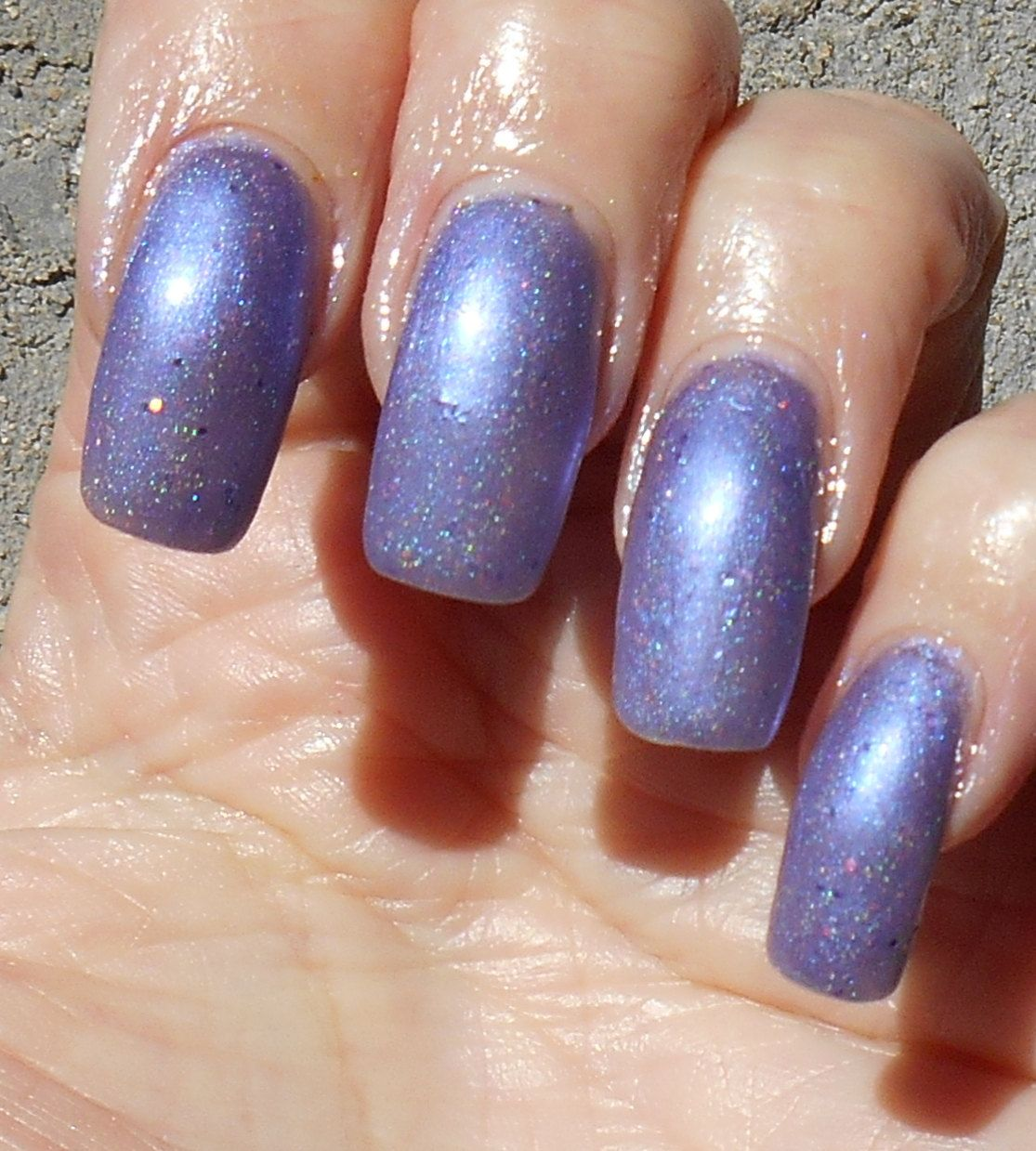 Misty Mountain Morning lilac holographic nail polish by ...