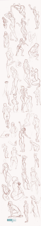 Studies Part II by juarezricci | Nudes | Pinterest | Drawings, Pose ...