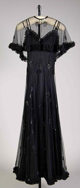 Evening ensemble  fall/winter 1936-37 Mme. Eta HENTZ (American, born Hungary) Culture: American; Silk, sequins. (hva)