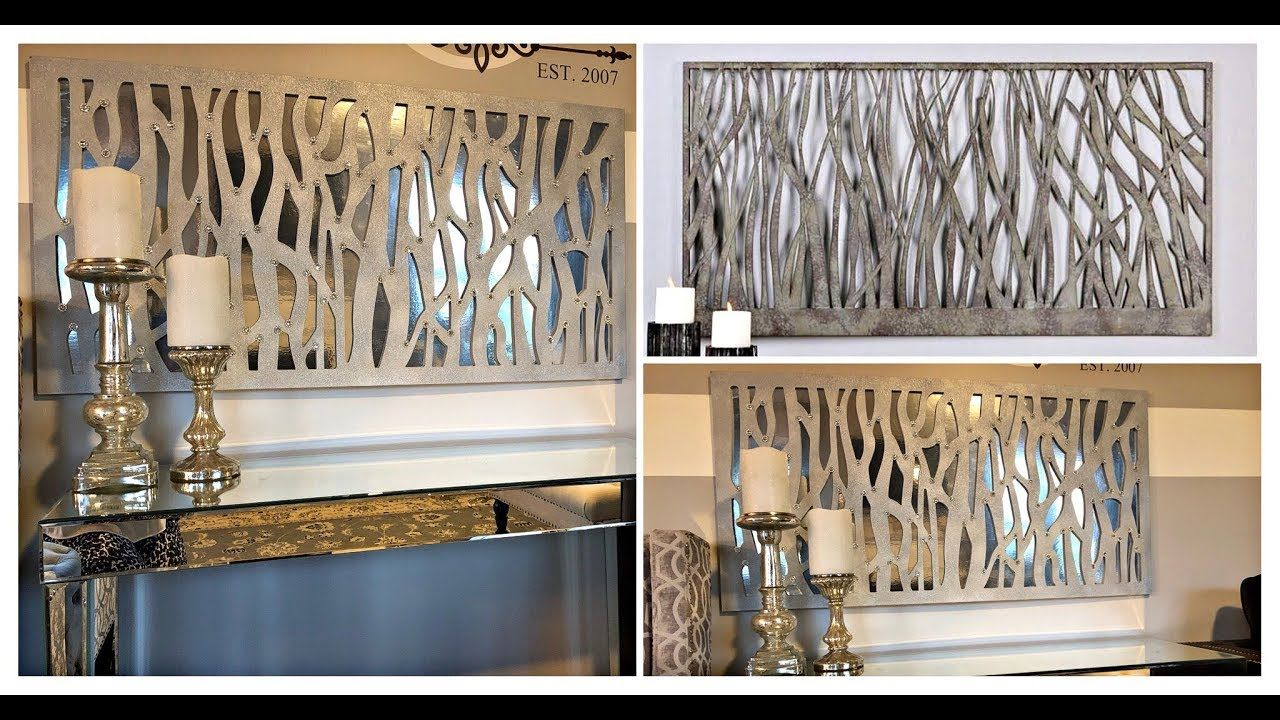 Diy Designer Inspired Easy And Inexpensive Mirrored Abstract Wall Art Home Decor Youtube Diy Wall Art Decor Home Decor Modern Wall Decor