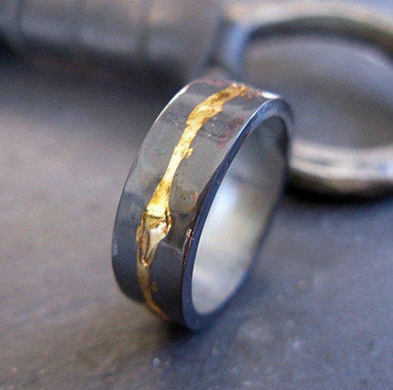 Unique Mens Wedding Bands.Mens Wedding Band Rustic Mens Wedding Ring 8mm Ring Mens Wedding
