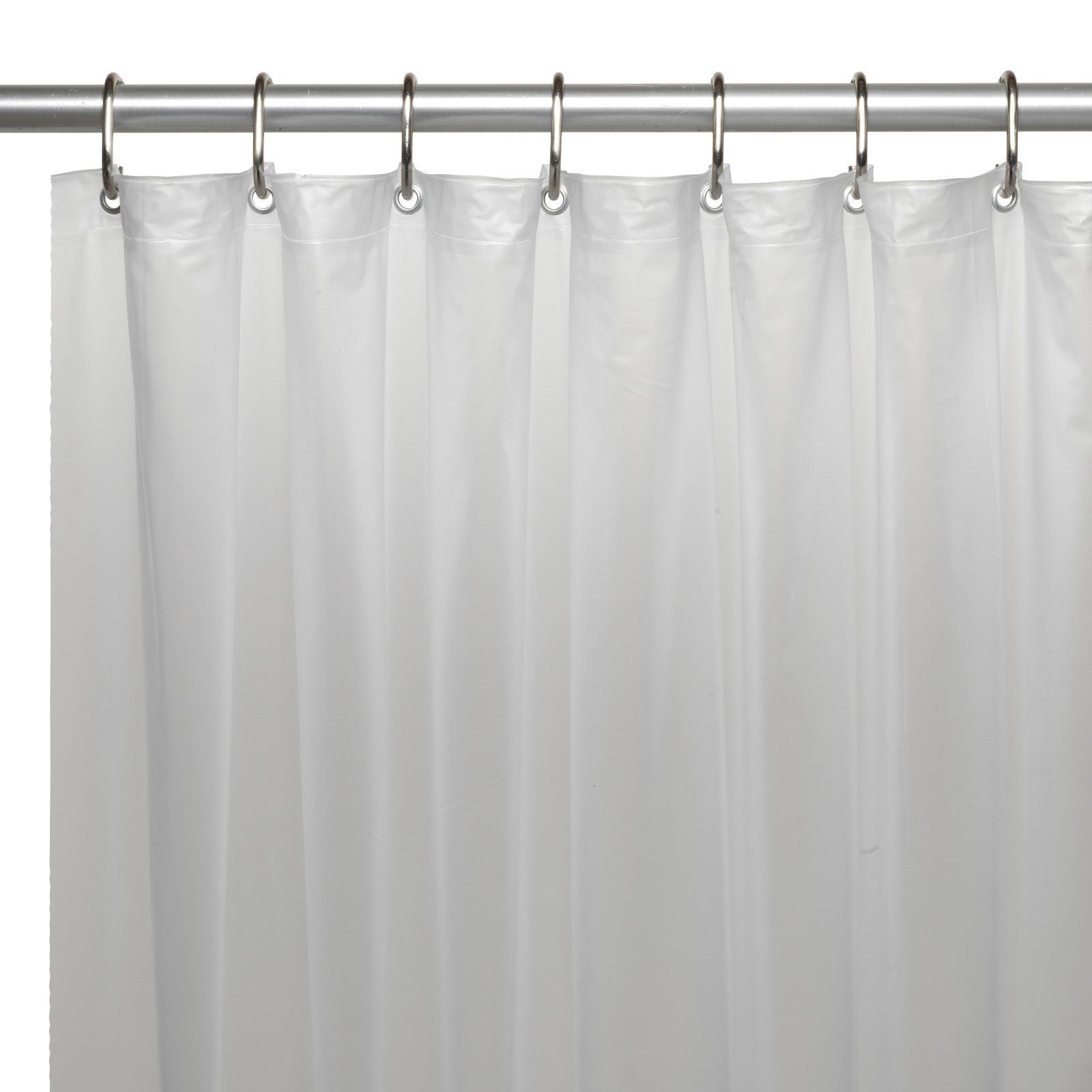 Carnation Home Fashions Vinyl Shower Curtain Liner With Metal Grommets Frosty Clear Vinyl Shower Curtains Shower Stall Shower Curtain