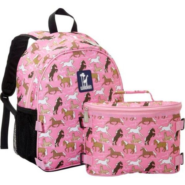 Kids' Backpack and Lunch Box - Pink Horses | Becky & Lolo | kid´s ...