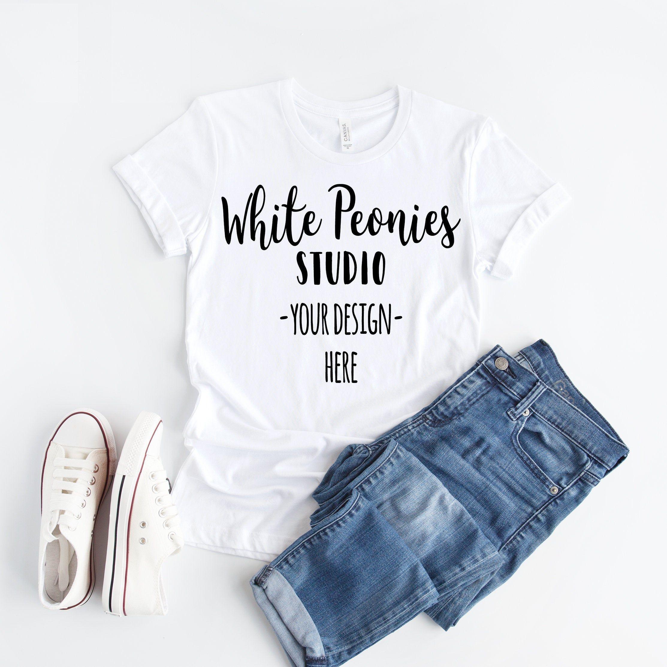 Download White Tshirt Mockup Bella Canvas Mockup Shirt Mockup Etsy In 2021 Shirt Mockup Tshirt Mockup Clothing Mockup