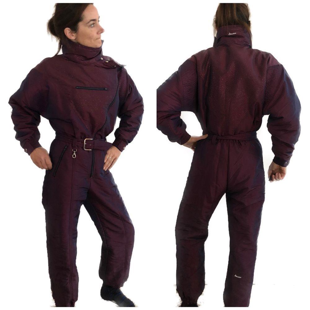 Womens Snow Suit One Piece >> Vintage Snowsuit One Piece Women S Snowsuit Azure Purple 12
