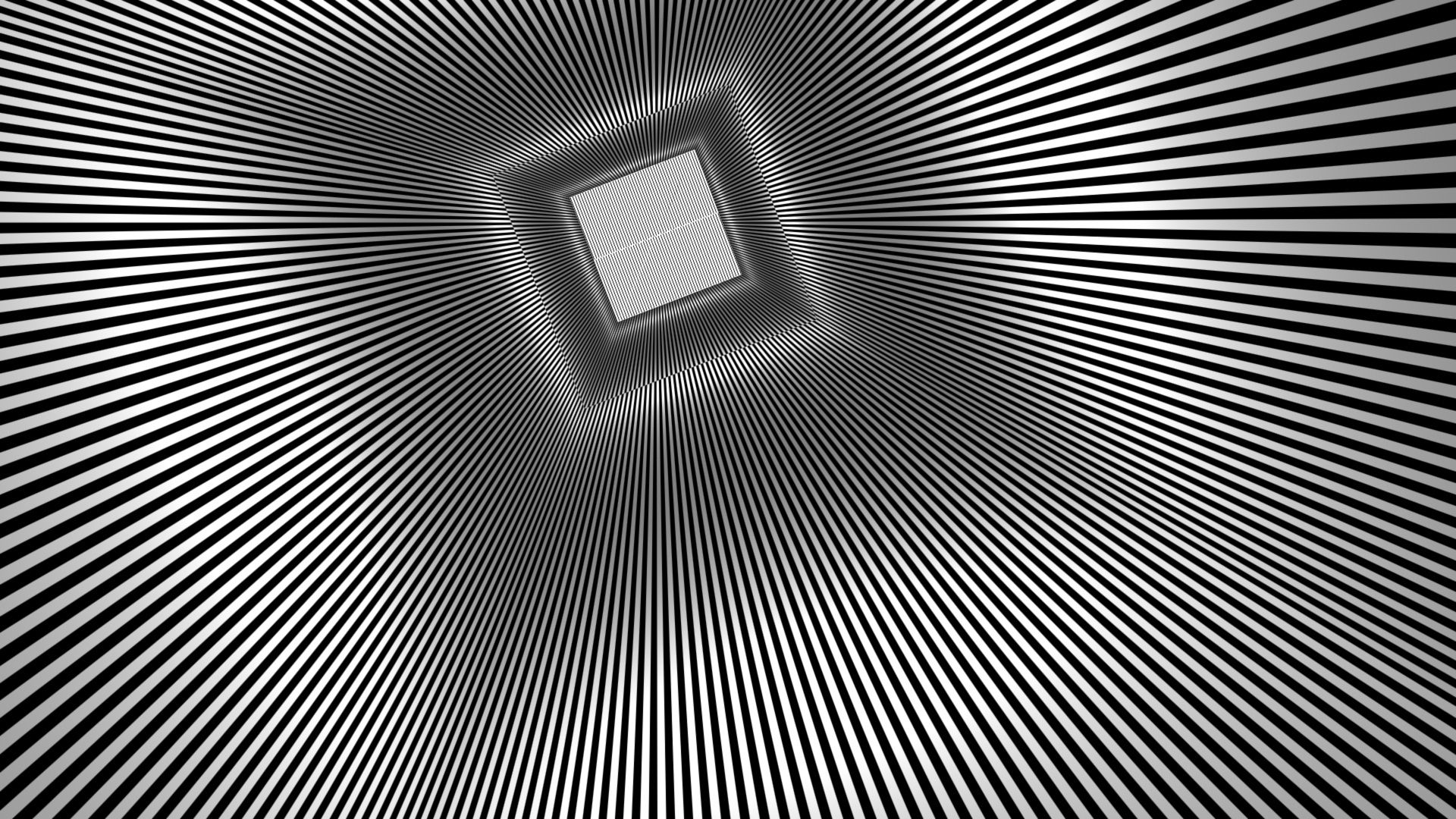 Square Rays Optical Illusion Teaser Psychedelic Wallpaper
