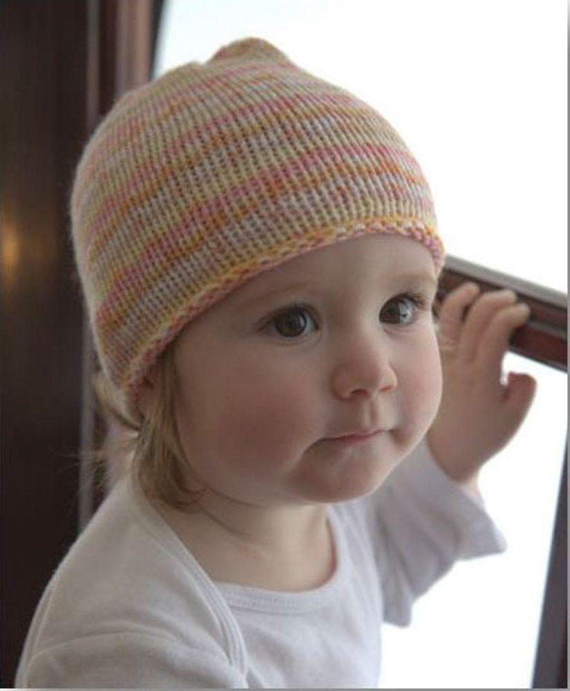 db9f14d5fe4 Striped Baby Hat in Plymouth Yarn Dreambaby DK Paintpot - F660 -  Downloadable PDF. Discover more patterns by Plymouth Yarn at LoveKnitting.